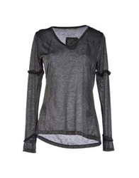 Le Casual De Marithe Francois Girbaud T Shirts Steel Grey