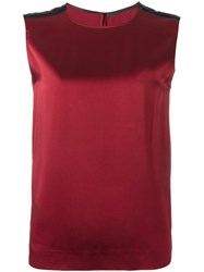 Haider Ackermann Satin Tank Top Red
