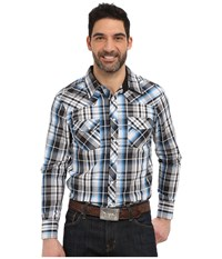 Rock And Roll Cowboy Long Sleeve Snap B2s6270 Blue Men's Long Sleeve Button Up