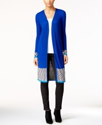 Inc International Concepts Open Front Duster Cardigan Only At Macy's Goddess Blue