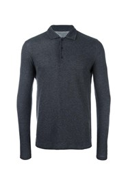 Majestic Filatures Longsleeved Polo Shirt Grey