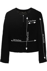 Moschino Embroidered Wool Boucle Jacket Black
