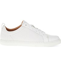 Whistles Kenley Perforated Leather Trainers White