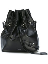 Rochas Bucket Drawstring Shoulder Bag Black