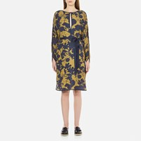 Gestuz Women's Audra Tunic Printed Dress Golden Palm Blue Black