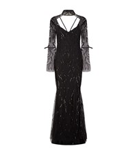 Rachel Gilbert Adele Embellished Gown Female Black