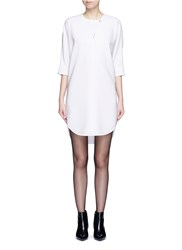 Alexander Wang Keyhole Front Shirt Tail Dress White