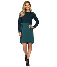 Prana Everly Dress Deep Teal Women's Dress Green