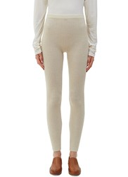 Lauren Manoogian Ribbed Knit Leggings Naturals
