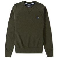 Fred Perry Loopback Crew Sweat Green