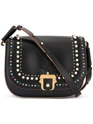 Paula Cademartori Studded Cross Body Bag Black