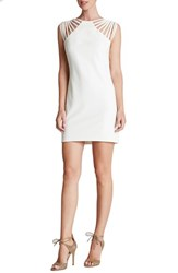 Women's Dress The Population 'Cora' Strappy Shoulder Sheath Dress Ivory