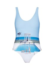 Orlebar Brown Almada Pool Print Swimsuit