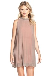 Women's Bb Dakota 'Devlan' Pleated Trapeze Dress Churro
