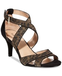 Styleandco. Style And Co. Pravati Strappy Evening Sandals Women's Shoes Leopard