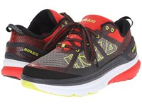 Hoka One One Constant 2 Grey Poppy Red Men's Running Shoes Gray