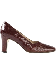 Italian Production Vintage Block Heel Pumps Brown