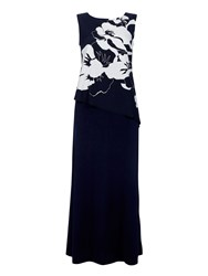 Wallis Navy Printed Floral Overlayer Dress