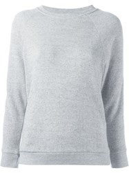 R 13 R13 Zip Sleeve Sweatshirt Grey