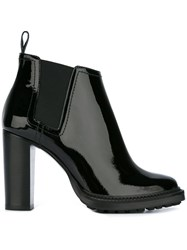 Pollini Pull On Ankle Boots Black