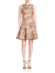 Abs By Allen Schwartz Leopard Print Fit And Flare Dress Brown