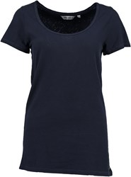 Garcia Long Cotton T Shirt Navy