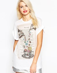 Love Moschino Floral Tea Party T Shirt White