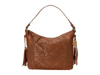 American West Mesa Slouch Hobo Shoulder Bag Tan Gold Shoulder Handbags