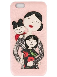 Dolce And Gabbana Family Patch Iphone 6 Case Pink Purple