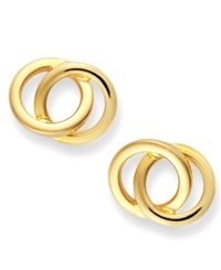 Giani Bernini 24K Gold Over Sterling Silver Earrings Circle Stud Earrings