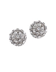Judith Jack Crystal Fireball Earrings Silver