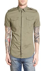 Men's Diesel 'Haul' Extra Trim Fit Short Sleeve Military Shirt