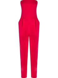 Andrea Marques Strapless Jumpsuit Pink And Purple