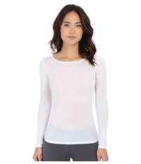 Hanro Ultralight Long Sleeve Top White Women's Clothing