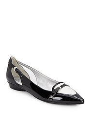 Circa Joan And David Anitsa Two Tone Point Toe Flats Black