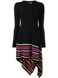 Love Moschino Asymmetric Knitted Dress Black