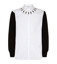 Neil Barrett Lightning Bolt Shirt Male White