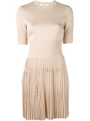 Givenchy Pleated Skirt Short Dress Nude And Neutrals