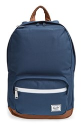 Herschel Supply Co. 'Pop Quiz Mid Volume' Backpack Blue Navy Tan