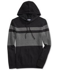 American Rag Men's Hooded Mesh Sweater Only At Macy's Deep Black