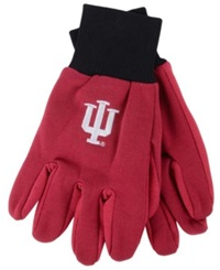 Forever Collectibles Indiana Hoosiers Palm Gloves Red