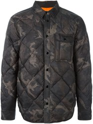 Rag And Bone Camouflage Down Jacket Grey