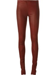 Isaac Sellam Experience Panel Detail Leggings Red