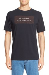 Saturdays Surf Nyc Men's Logo Graphic Short Sleeve T Shirt