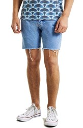 Men's Topman Skinny Fit Cutoff Denim Shorts