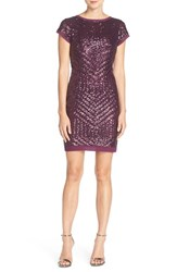 Vince Camuto Women's Sequin Chiffon Sheath Dress