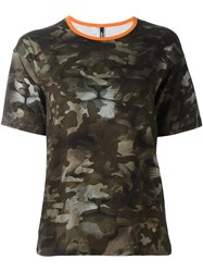 Versus Camouflage Boxy T Shirt Green