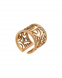 Poiray 18K Rose Gold Wire Heart Band Ring W Diamonds Pink Gold