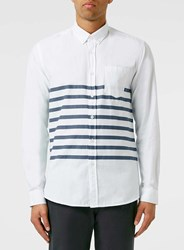 Topman Legends Navy Striped Shirt Blue