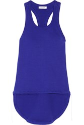 Tim Coppens Ribbed Cotton Blend Tank Royal Blue